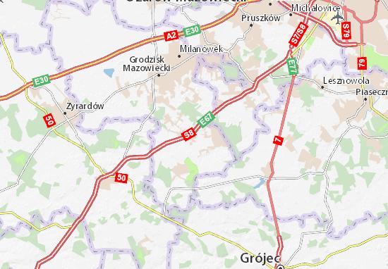 Mapa Żabia Wola