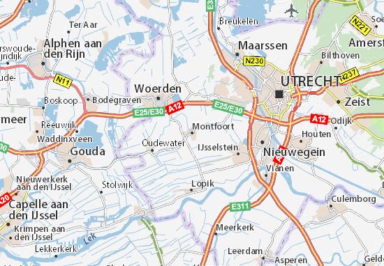 Kaart Plattegrond Montfoort
