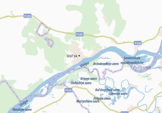 Vol'sk Map
