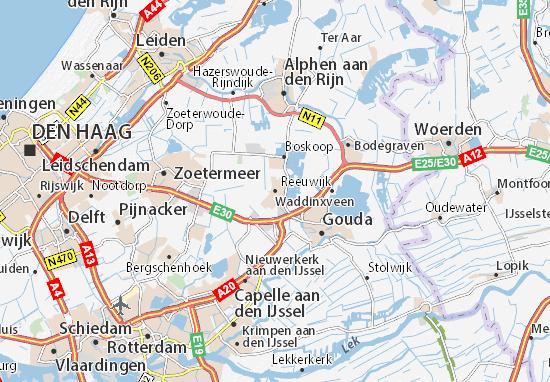 Carte-Plan Waddinxveen