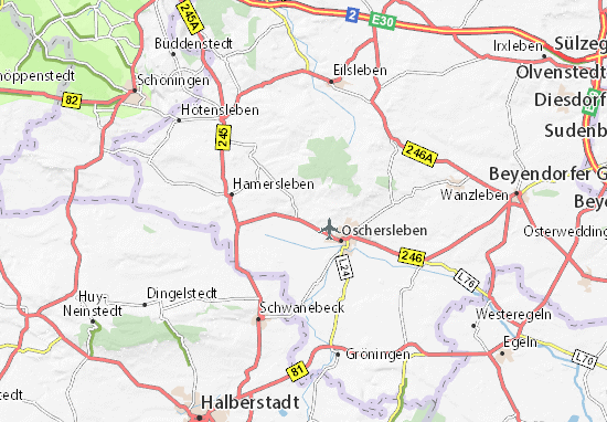 Karte Stadtplan Hornhausen