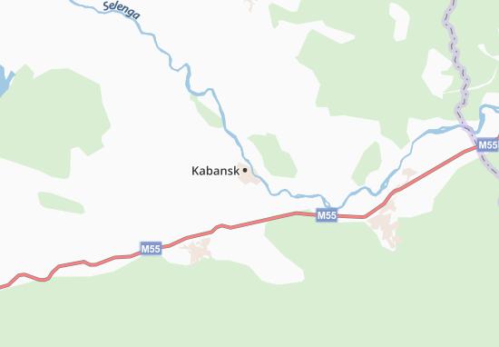 Kaart Plattegrond Kabansk