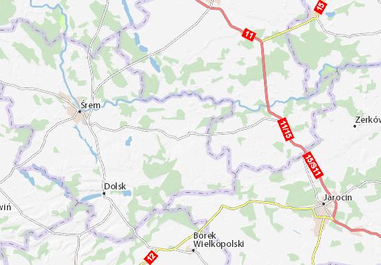 Książ Wielkopolski Map