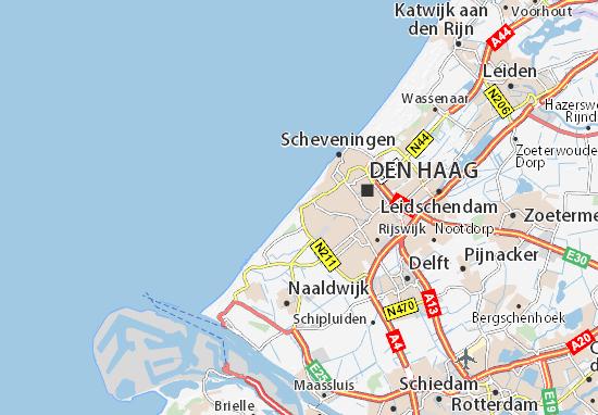 Map Of Kijkduin Michelin Kijkduin Map Viamichelin