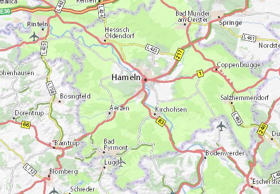 Hameln Karte.Karte Stadtplan Klein Berkel Viamichelin