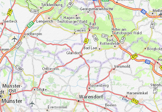 Carte-Plan Glandorf