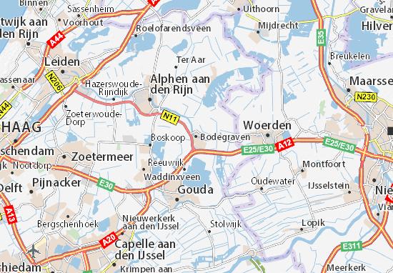 Kaart Plattegrond Bodegraven