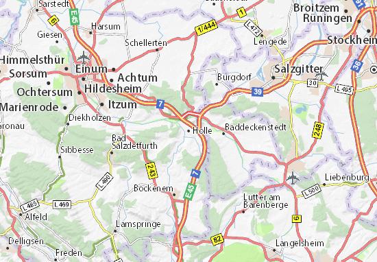 Karte Stadtplan Holle