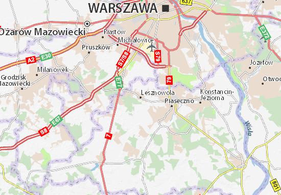 Lesznowola Map