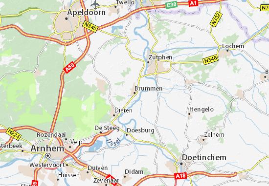 Mapa Brummen