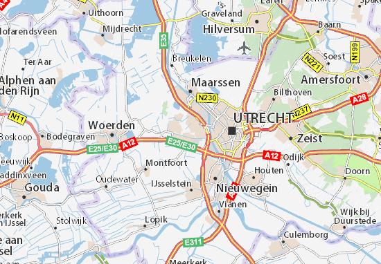 Kaart Plattegrond Utrecht