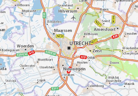 Karte Stadtplan Utrecht