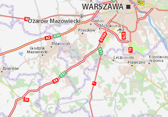 Mapa Nadarzyn