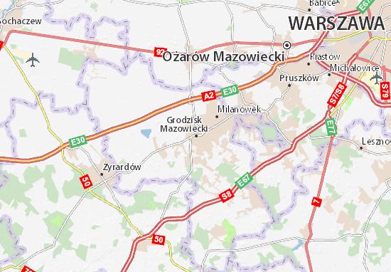 Mapa Grodzisk Mazowiecki