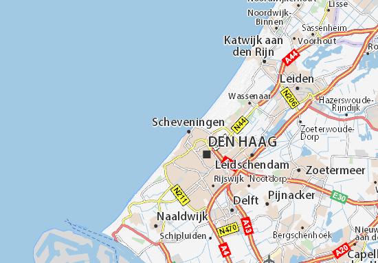karte holland scheveningen Karte, Stadtplan Scheveningen   ViaMichelin