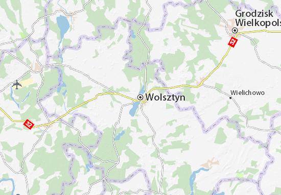 Wolsztyn Map