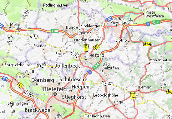 Mappe-Piantine Herford