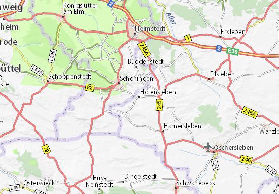 Hötensleben Map