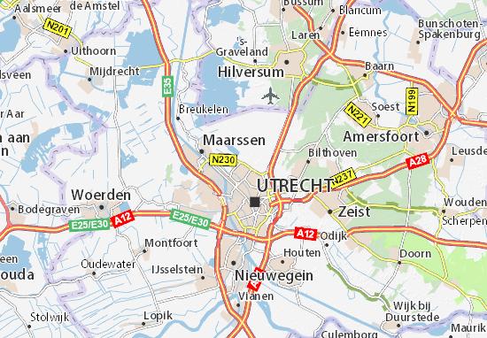 kaart van utrecht Kaart van Utrecht  plattegrond van Utrecht  ViaMichelin