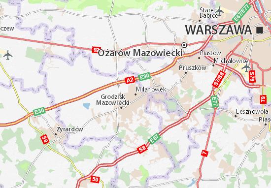 Mapa Milanówek
