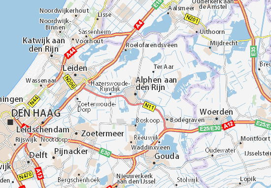 Mapa Plano Alphen aan den Rijn