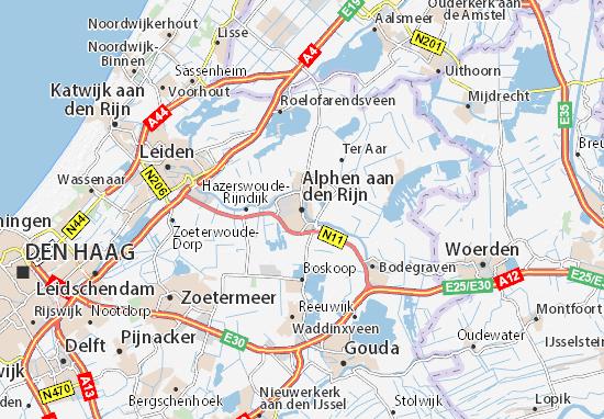 Mapas-Planos Alphen aan den Rijn