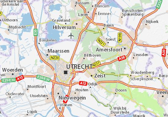 Kaart Plattegrond Bilthoven