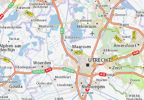 Karte Stadtplan Maarssen