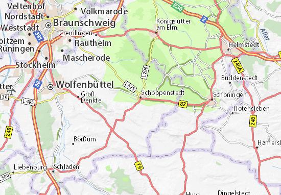 Schöppenstedt Map