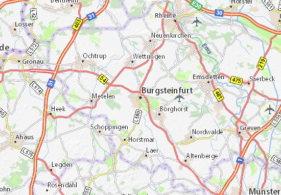 Carte-Plan Burgsteinfurt