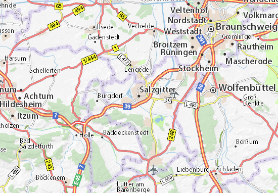 Carte-Plan Salzgitter