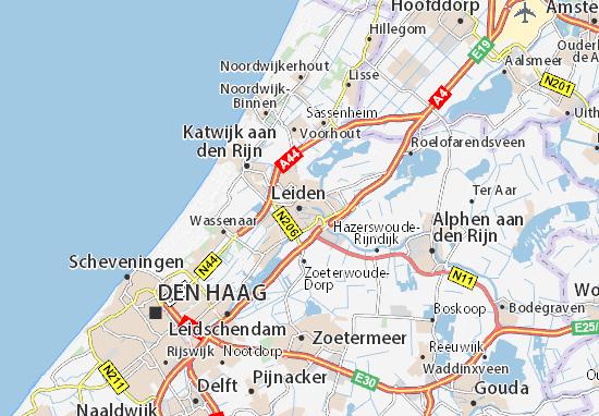 Kaart Plattegrond Leiden