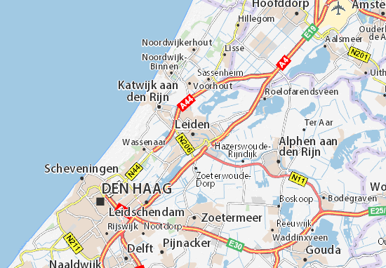 Mapa Leiden