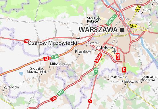 Mapa Pruszków