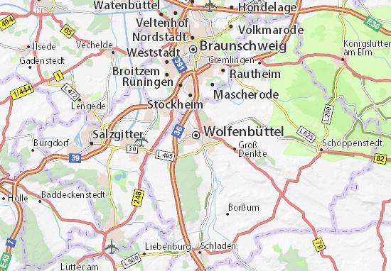 Mapa Plano Wolfenbüttel
