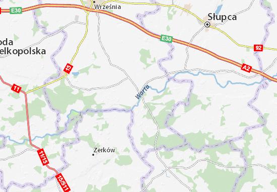 Pyzdry Map