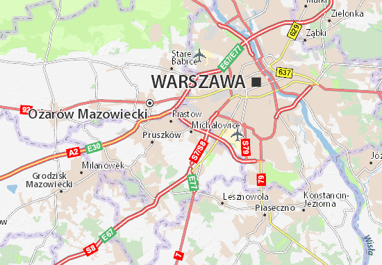 Mapa Michałowice