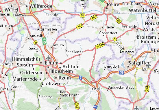 Mapa Plano Schellerten