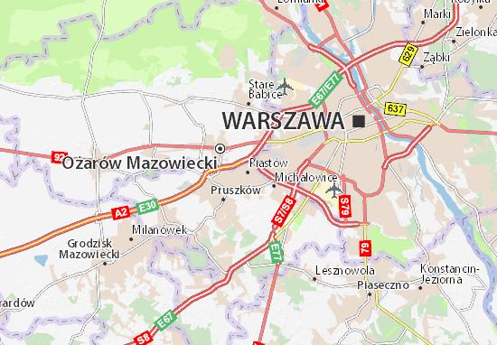 Mapa Piastów