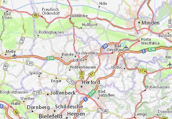 Karte Stadtplan Löhne