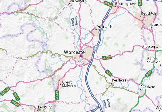 Carte-Plan Worcester