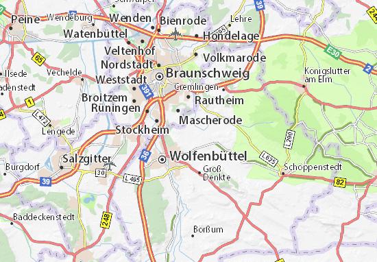 Karte Stadtplan Salzdahlum Viamichelin