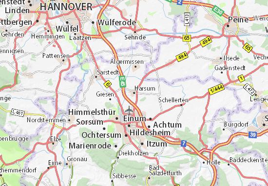 Karte Stadtplan Harsum