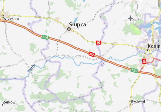 Lądek Map