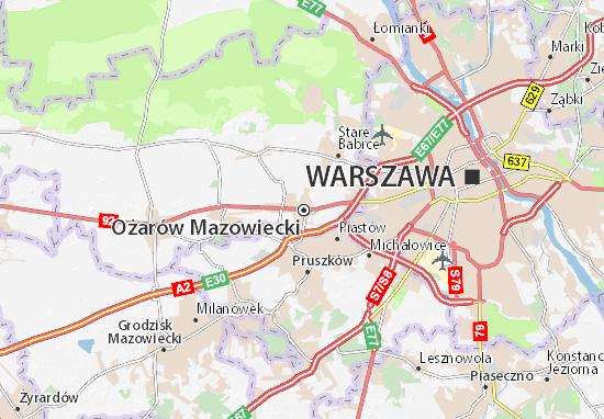 Mapa Ożarów Mazowiecki