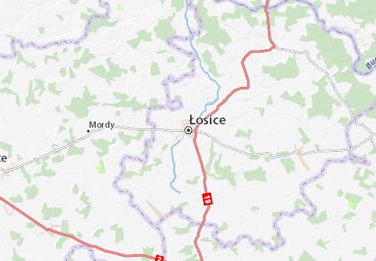 Mapa Łosice