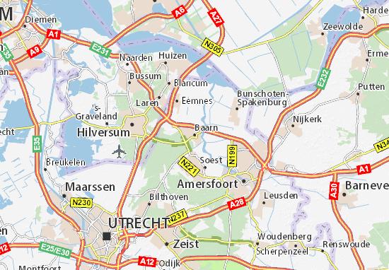 Karte Stadtplan Baarn