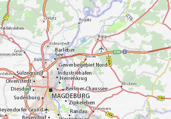 Karte Stadtplan Möser