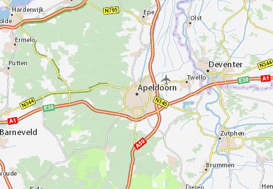 Mapa Apeldoorn