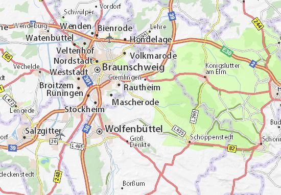 Karte Stadtplan Sickte